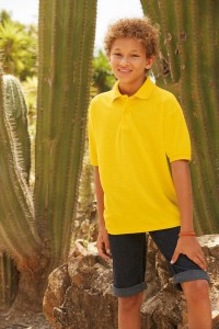 FRUIT OFF THE LOOM KIDS POLO 65/35